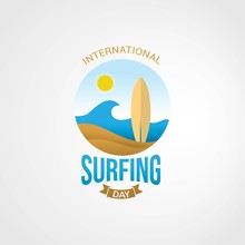 International Surfing Day Vect...