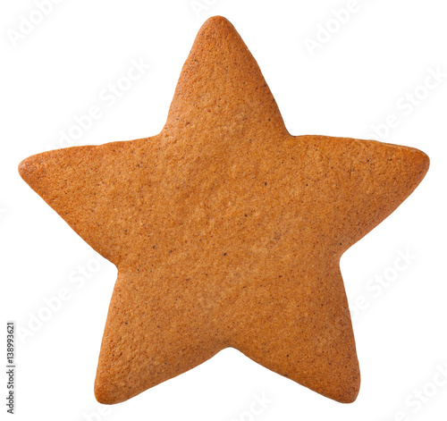 Fotobehang Koekjes Gingerbread Star Cookie