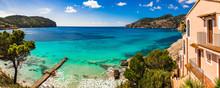 Idyllic Sea View On Majorca Island, Panorama At The Seaside Bay In Camp De Mar