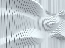 Abstract Surface Made Of Vertical Panels Forming Wavy Geometry 3d Illustration