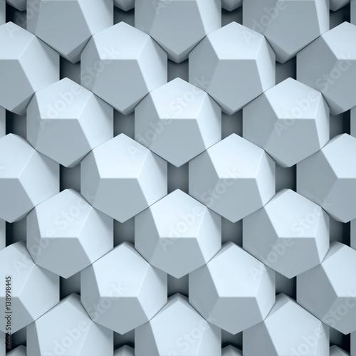 Fototapeta figury geometryczne 3d