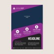 Corporate business annual report brochure flyer design. Leaflet cover presentation. Flier with Abstract geometric background. Modern publication poster magazine, layout template A4 flyer