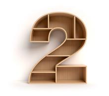 Shelf Font 3d Rendering Number 2