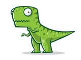 Fototapeta Dinusie - Cartoon Funny T-Rex