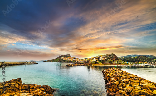 Photo  Breakwater in Castelsardo harbor
