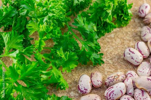 Fotografie, Obraz  Romano beans and Parsley
