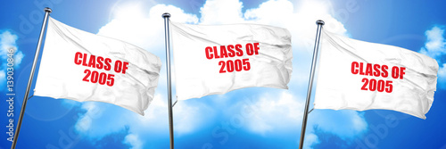 Fotografia  class of 2005, 3D rendering, triple flags