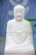 White Buddha sculpture in a temple
