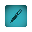 blue square frame with silhouette pen icon tool vector illustration
