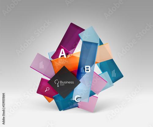 Poster Geometrische dieren Vector 3d geometric abstract background template