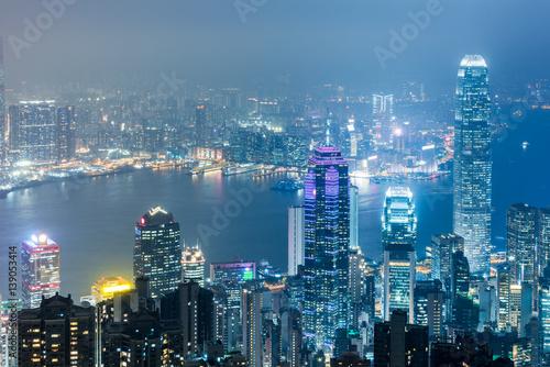 Photo  aerial view of Hong Kong apartment block in China.