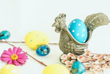 Easter Egg In A Saucer Metal R...