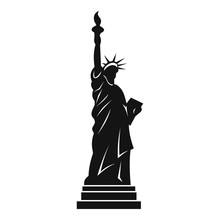 Statue Of Liberty Icon, Simple...