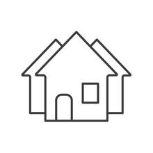 Real Estate Market Linear Icon