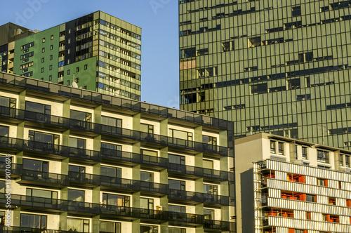 Wienerberg City, modern architecture, flats, Austria, Vienna, 10 Wallpaper Mural