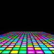 canvas print picture - multi color lights floor