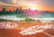 Skyline Miami, Florida at Sunset
