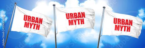 urban myth, 3D rendering, triple flags