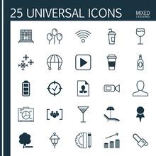 Set Of 25 Universal Editable I...