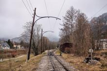 Railways In The Alpine Village Of Reichenau On The Rax (german: Reichenau An Der Rax). Lower Austria
