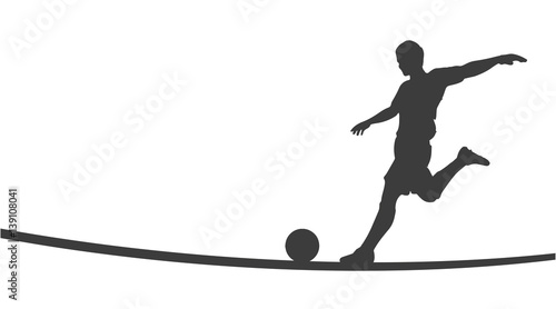 Fussballer Silhouette Buy This Stock Vector And Explore