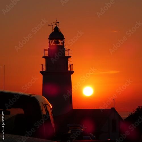 Autocollant pour porte Phare Lighthouse