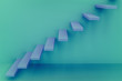 3d rendering of steps on the wall