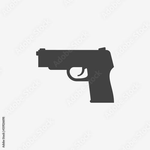 Pinturas sobre lienzo  Gun monochrome icon. Vector illustration.