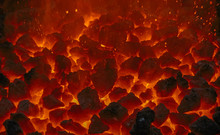 Close Up Of Embers In Forge