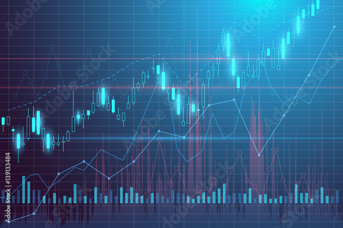 Obraz Trading graphics background - fototapety do salonu