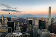 Panoramic aerial view of Manhattan and Central Park at sunset - New York, USA