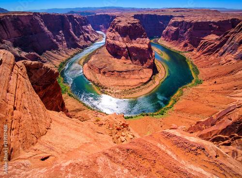 Foto auf Acrylglas Horseshoe Bend on the Colorado River near Page, Arizona, USA
