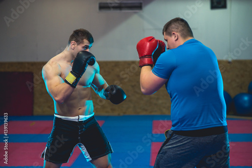Fotografie, Obraz  Mixed Martial Arts sparring