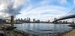 Panoramic view of Manhattan and Brooklyn Bridge - New York, USA