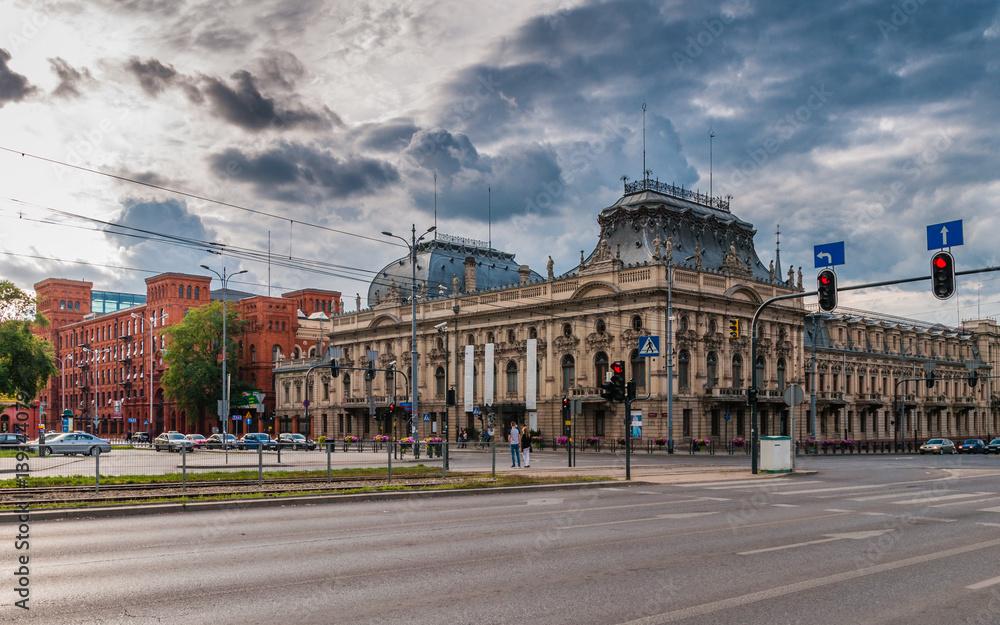 Fototapeta Palast Poznanski und Manufaktura in Łódź, Polen