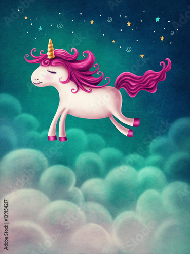 Tablou Canvas Cute little unicorn