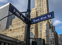 Street Sign Of Fifth Ave And E...