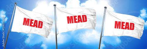 mead, 3D rendering, triple flags Poster