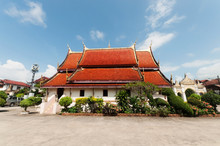 Wat Sri Khun Muang In Chiang Khan At Sunny Day,Loei, Thailand, Soft Focus And Public Place