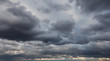 Leinwandbild Motiv Natural backgrounds: stormy sky