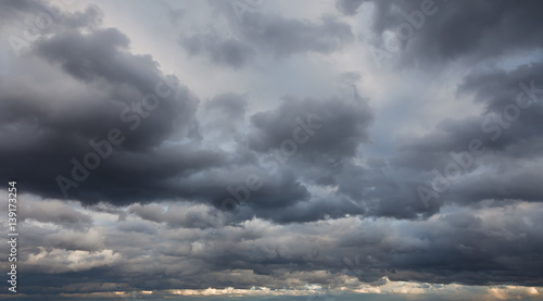 Foto op Canvas Hemel Natural backgrounds: stormy sky