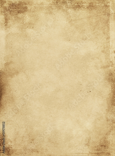 Old stained and grunge paper texture. Wallpaper Mural