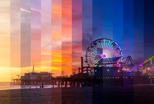 Santa Monica Pier Sunset Slice...
