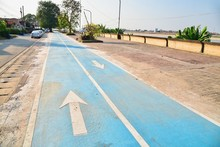 Bicycle Lanes In Nong Khai Province, Thailand