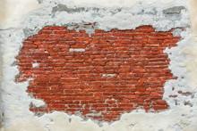 Empty Old Brick Wall Texture