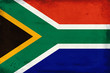 canvas print picture - Vintage national flag of South Africa background