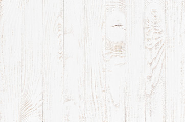 Fototapeta white wood texture background, wooden table top view