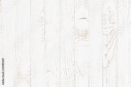 White Wood Texture Background Wooden Table Top View