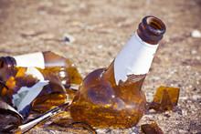 Shattered Beer Bottle Resting ...