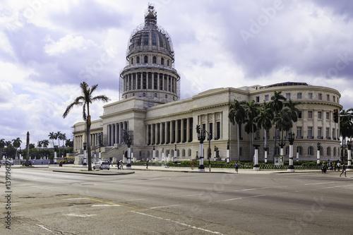 Deurstickers Havana Capitol in Havana